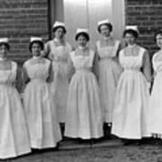 Group Nurses 19151916 Black White 1910s 1915 Art Print