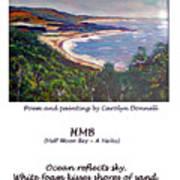 Half Moon Bay - A Haiku Art Print