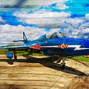 Hawker Hunter T7 Aircraft On Wood Art Print