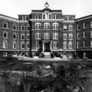 Hospital 1912 Black White 1910s Archive Brick Art Print