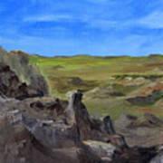 Hunters Overlook Badlands South Dakota Art Print