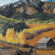 I Will Lift Up My Eyes To The Hills Autumn Nostalgia  Wilson Peak Colorado Art Print