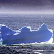 Iceberg Floating By Art Print