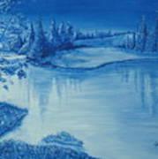Idaho Lakeside Night Art Print