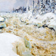 Imatra In Winter  Art Print