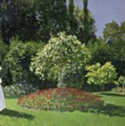 Jeanne Marie Lecadre In The Garden Art Print