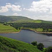 Kinder Reservoir From White Brow Art Print