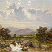 Landscape Near Abtenau Art Print