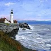 Lighthouse South Portland Me  Art Print
