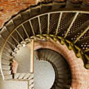 Lighthouse Stairs Cape Blanco Oregon 1 Art Print