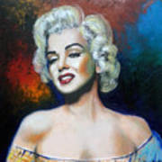 M. Monroe Art Print