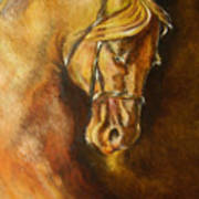 A Winning Racer Brown Horse Art Print