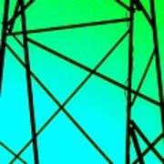 Metal Frame Abstract Art Print