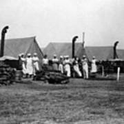 Military Cooks Next Stoves Tents Wood Circa 1910 Art Print