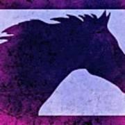 Mindy's Purple Horse  Art Print