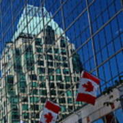 Modern Architecture - City Reflection Vancouver  Art Print