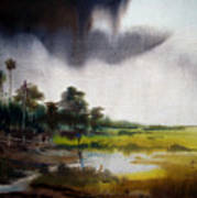 Monsoon Village  Art Print