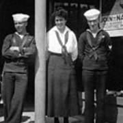 Navy Recruiting Personnel 19171918 Black White Art Print
