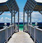 Oceanfront Pavilion Art Print