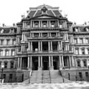 Old Executive Office Building Bw Art Print