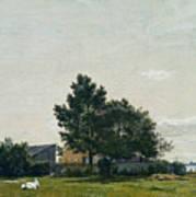 Party Near The Lime Kiln With Views Towards The Copenhagen  Art Print