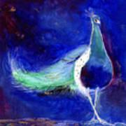 Peacock Blue Art Print