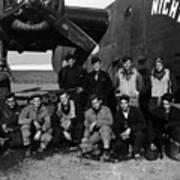 Pilot Crew W Airplane Nightmare 19411945 Black Art Print
