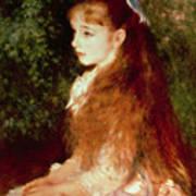 Portrait Of Mademoiselle Irene Cahen D'anvers Art Print