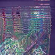 Purple Linear Abstraction Art Print