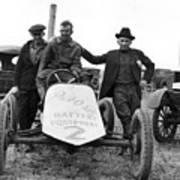 Race Car Team 1923 Black White 1920s Archive Art Print