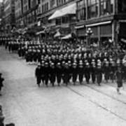 Sailors Marching In Parade 19171918 Black White Art Print