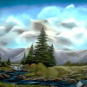 Serpentine Creek Dreamy Mirage Art Print