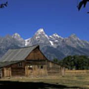 South Moulton Barn Grand Tetons Art Print