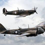 Spitfire And Blenheim Art Print