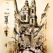 St. Nicholas Church In Prague Art Print