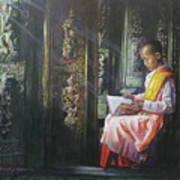 Studying Nun Art Print