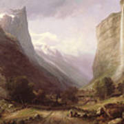 Swiss Scene Art Print by Samuel Jackson