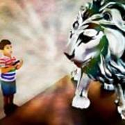 The Boy And The Lion 2 Art Print