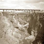 The Crooked River High Bridge Is A Steel Arch Bridge That Spans Oregon Built In 1926  Circa 1929 Art Print