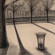 The Evening In Tuileries Paris Art Print