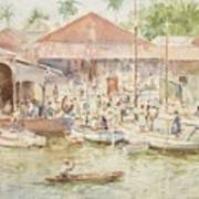 The Market Belize British Honduras Art Print