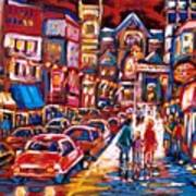 The Night Life On Crescent Street Art Print