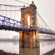 The Roebling Bridge Art Print