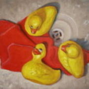 Three Rubber Ducks  #1 Art Print