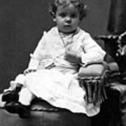 Toddler Sitting In Chair 1890s Black White Boy Art Print