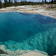 Turquoise Hot Springs Yellowstone Art Print