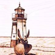 Vermilion Lighthouse Art Print
