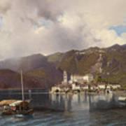 View Of Isola San Giulio In Lake Orta Art Print