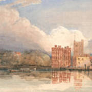 View Of Lambeth Palace On Thames Art Print