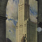 View Of The Woolworth Building Art Print